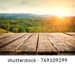 table top and blur nature of... | Shutterstock . vector #769109299