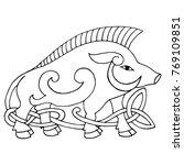 ancient irish mythological... | Shutterstock .eps vector #769109851