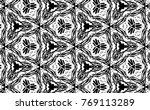 ornament with elements of black ... | Shutterstock . vector #769113289