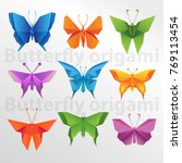 origami butterfly collection | Shutterstock .eps vector #769113454
