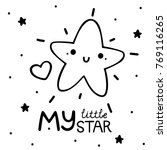 coloring with cute little star  ... | Shutterstock .eps vector #769116265