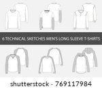 fashion technical sketches of... | Shutterstock .eps vector #769117984