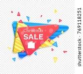 christmas sale banner template. ... | Shutterstock .eps vector #769118251