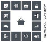 set of 13 editable hotel icons. ...