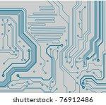 computer circuit board.... | Shutterstock .eps vector #76912486