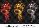set of golden  white and red... | Shutterstock .eps vector #769125235