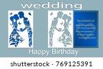 vector illustration postcard.... | Shutterstock .eps vector #769125391