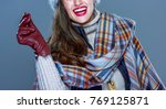 winter things. closeup on... | Shutterstock . vector #769125871
