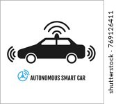autonomous smart car icon... | Shutterstock .eps vector #769126411