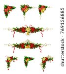 christmas decoration with bow | Shutterstock .eps vector #769126885