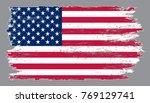 grunge american flag.vector... | Shutterstock .eps vector #769129741