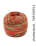 knitting  wool yarn isolated on ... | Shutterstock . vector #769133911