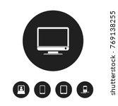 set of 5 editable gadget icons. ...
