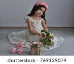 little cute bride | Shutterstock . vector #769139074