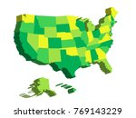 3d map of united states of... | Shutterstock .eps vector #769143229
