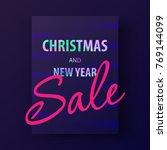 mery christmas card | Shutterstock .eps vector #769144099