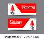 christmas voucher template...   Shutterstock .eps vector #769144531