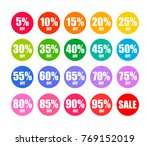 set of round discount tags 10... | Shutterstock .eps vector #769152019