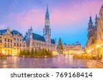 the grand place in old town... | Shutterstock . vector #769168414
