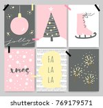 winter cute artistic cards ... | Shutterstock .eps vector #769179571