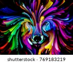dog paint series. abstract... | Shutterstock . vector #769183219