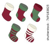 set of christmas stockings. red ...   Shutterstock .eps vector #769183825