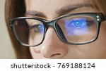 Close Up Shot Of Woman Eyes In...