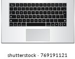 laptop computer keyboard... | Shutterstock .eps vector #769191121