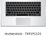 laptop computer keyboard... | Shutterstock .eps vector #769191121
