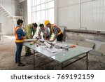 engineer group asia and worker... | Shutterstock . vector #769192159