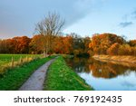 towpath on the bank of the... | Shutterstock . vector #769192435