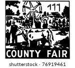 county fair   retro ad art... | Shutterstock .eps vector #76919461