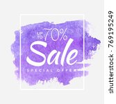 watercolor special offer  super ... | Shutterstock .eps vector #769195249