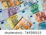 Pile Of Paper Euro Banknotes A...