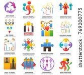 people team logo vector... | Shutterstock .eps vector #769200775