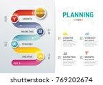 timeline infographics. template ... | Shutterstock .eps vector #769202674