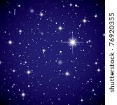 sparkling nights sky with stars ... | Shutterstock .eps vector #76920355