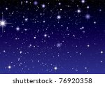 dark night sky with sparkling... | Shutterstock .eps vector #76920358