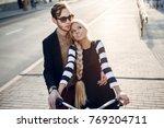 beautiful stylish vintage... | Shutterstock . vector #769204711