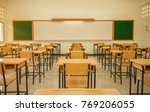 lecture room or school empty... | Shutterstock . vector #769206055