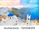 greece  santorini island in...   Shutterstock . vector #769208359