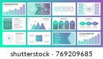 presentation with gradient... | Shutterstock .eps vector #769209685