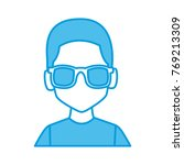 man with sunglasses profile | Shutterstock .eps vector #769213309