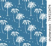 palm tree pattern seamless... | Shutterstock .eps vector #769213474
