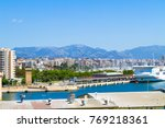 panoramic skyline view suburban ... | Shutterstock . vector #769218361