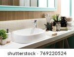interior of bathroom with sink... | Shutterstock . vector #769220524