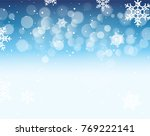winter bokeh background with... | Shutterstock .eps vector #769222141