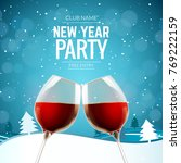 new year party celebration...   Shutterstock .eps vector #769222159