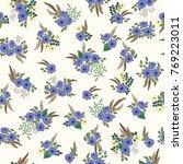 seamless folk pattern in small... | Shutterstock .eps vector #769223011
