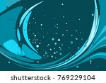 blue background  abstract toned ... | Shutterstock .eps vector #769229104